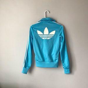 Adidas originals baby blue sweater jacket